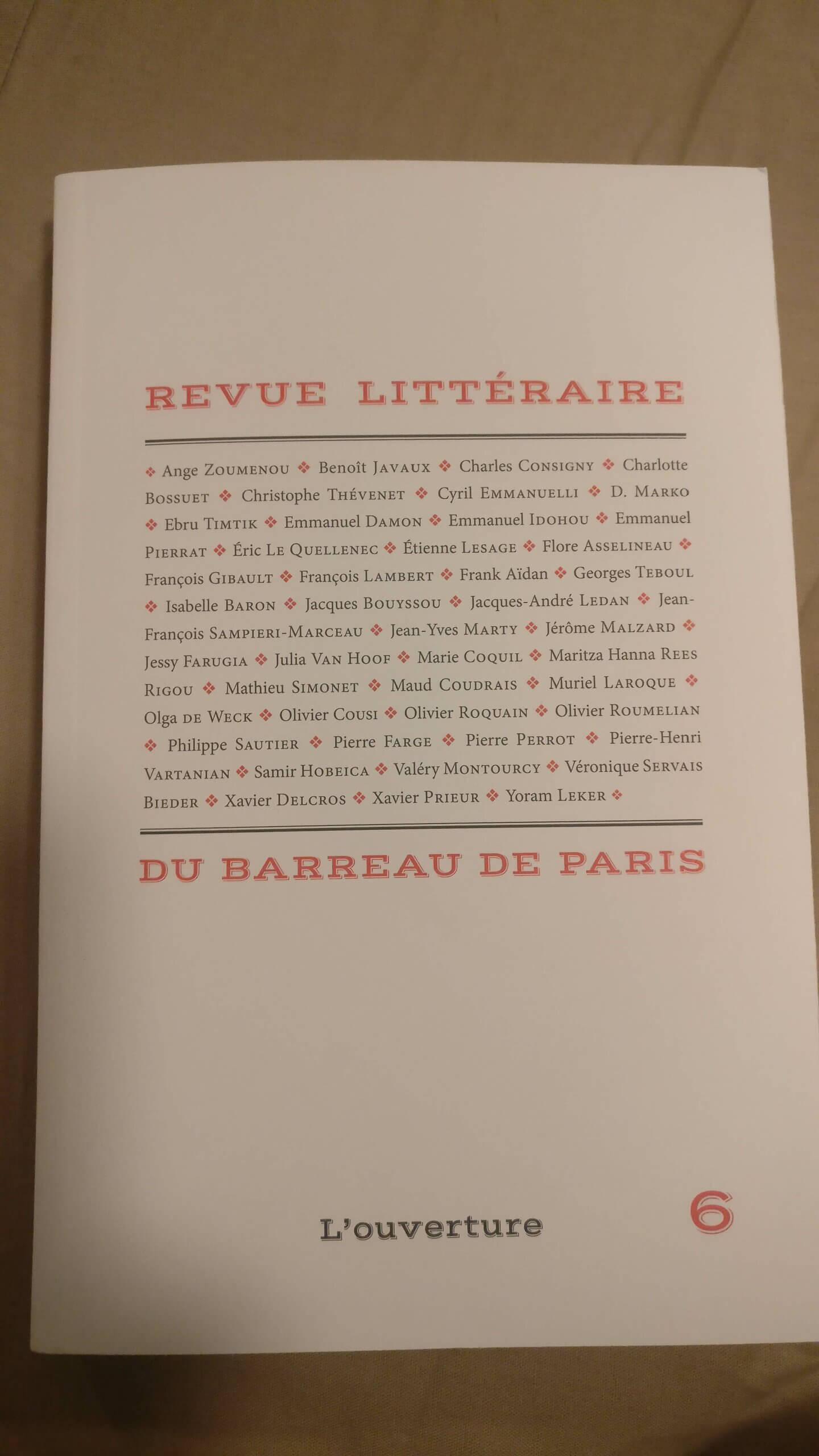 Revue Littéraire du Barreau de Paris